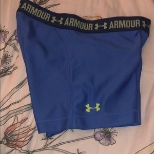 Blue under armour shorts/ spandex